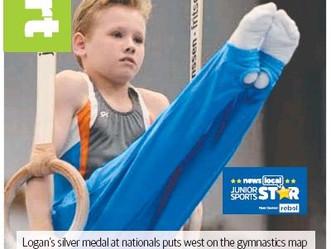 Local boy excelling in gymnastics