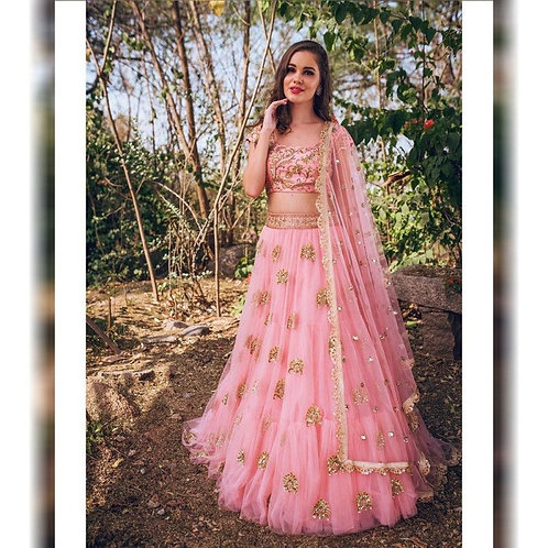 Moving Pink Color Designer Lehenga Choli