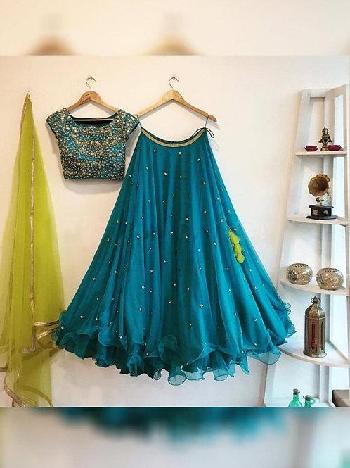 Different Rama Color Lehenga Choli