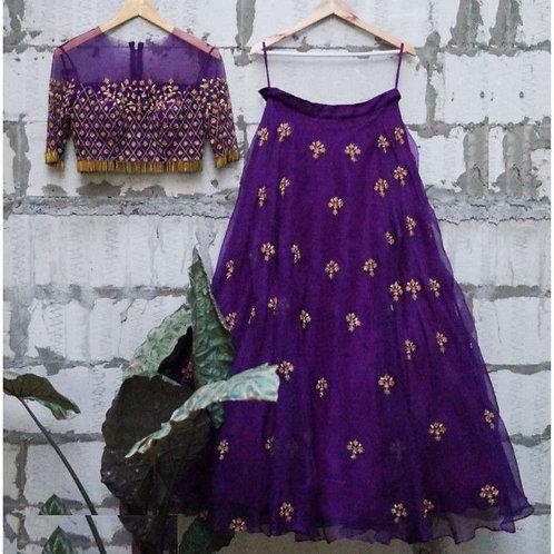 Magnificent Purple Color Latest Lehenga Designs