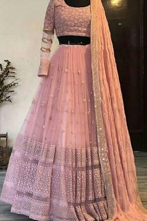 Lovely Peach Color Lehenga Choli Collection Online