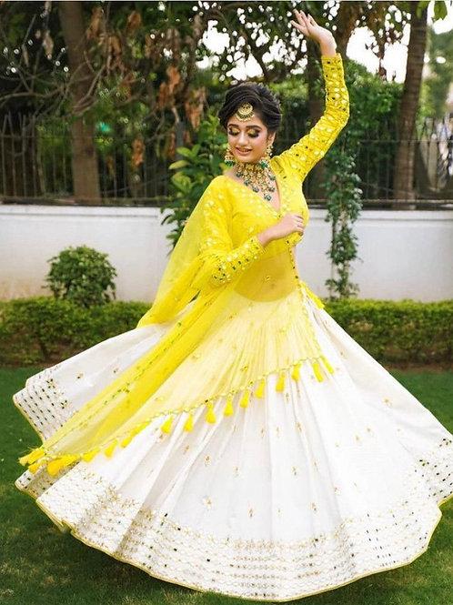 Good Looking Yellow Color Lehenga Choli Online