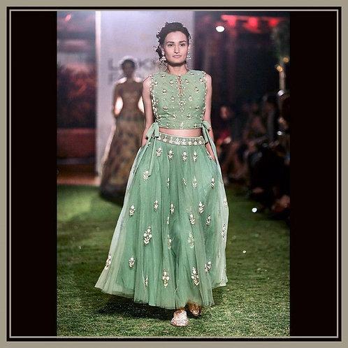 Adorable Green Color Latest Chaniya Choli