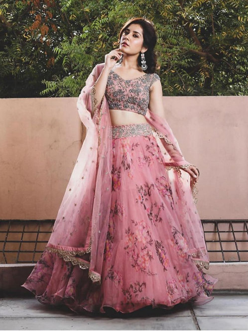 Beautiful Style Pink Color Lehenga Choli