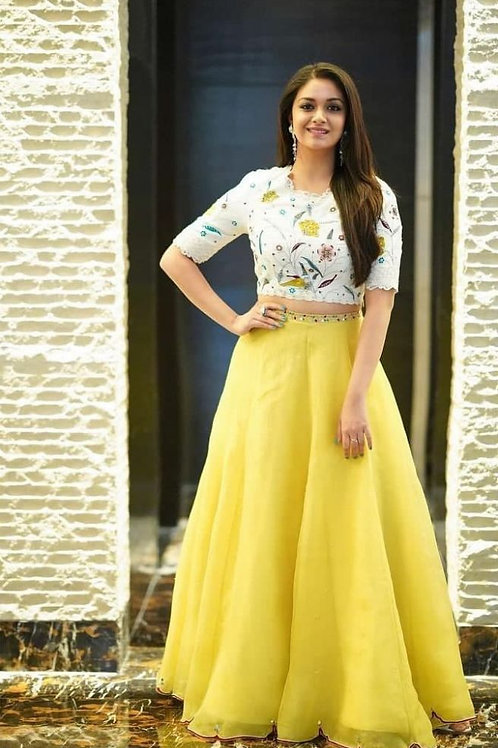 Pleasing Party Wear Yellow Color Choli Collection