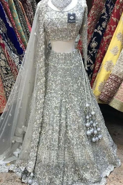 New Silver Color Oraganza Silk Lehenga Choli
