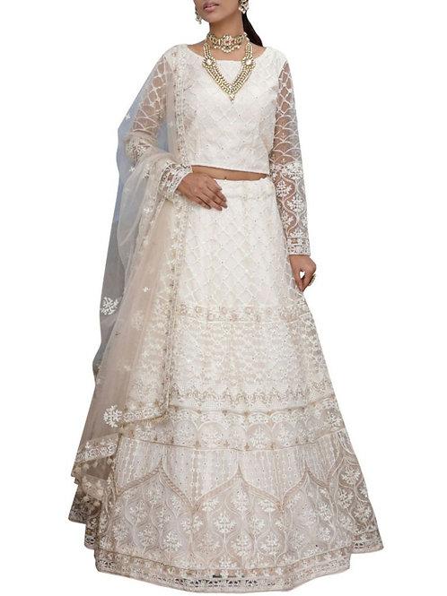 Dreamy White Chaniya Choli Online