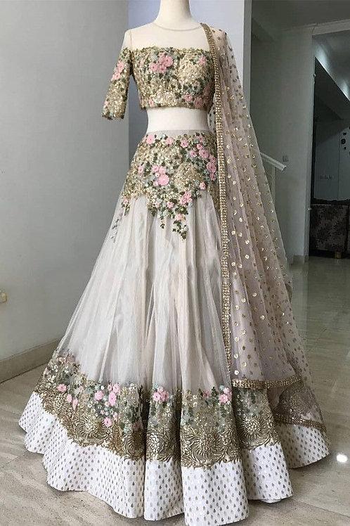 Bridal Wear Off White Lehenga Choli Collection
