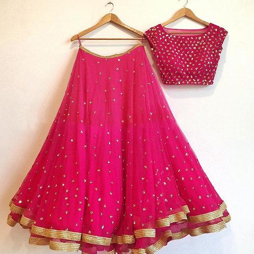 Blushing Pink Color Lehenga Choli With Price