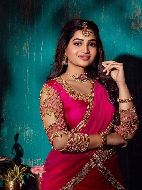 Lovely Pink Color Georgette Lehenga Collection