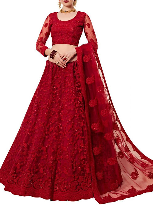 Charming Red Color Ghagra Choli Price