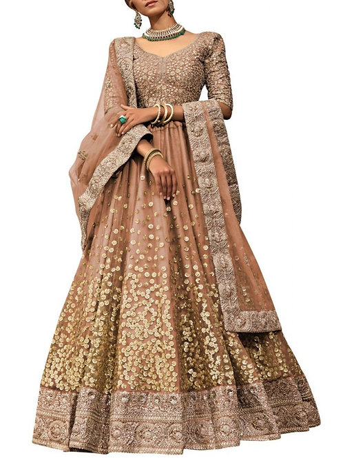 Out Of This World Brown Lehenga Choli Online Sale