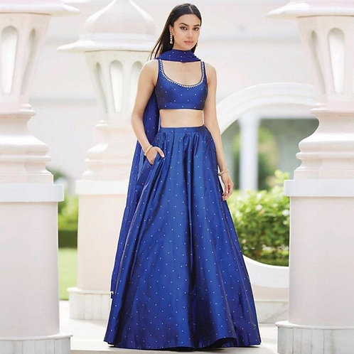 Attractive Navy Blue Color Lehenga Choli With Price