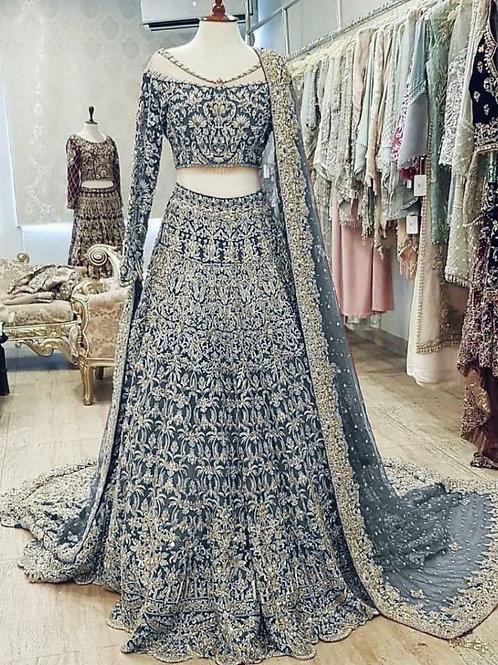 Moving Embroidered Blue Color Lehenga Choli