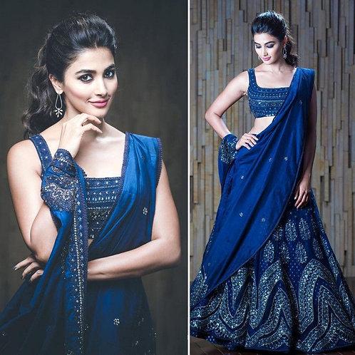 Celebrity Wear Blue Color Lehenga Choli