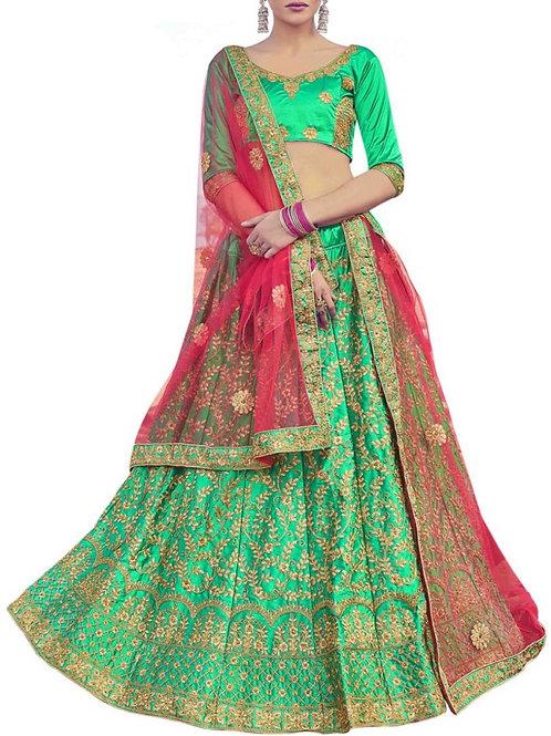 Graceful Green Chaniya Choli Online