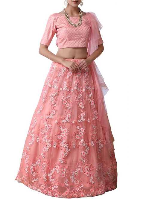 Exciting Light Pink Color Lehenga Choli Online Shopping Low Price
