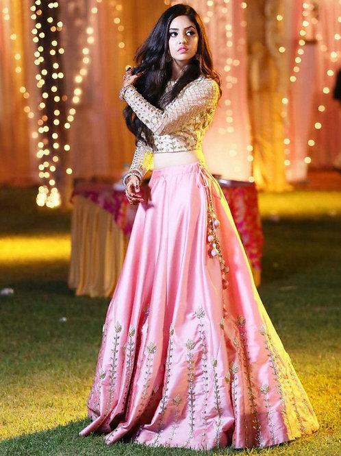 Pleasant Lotus Pink Designer Lehenga Choli