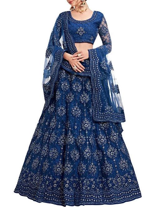 Comely Royal Blue Color Pakistani Lehenga