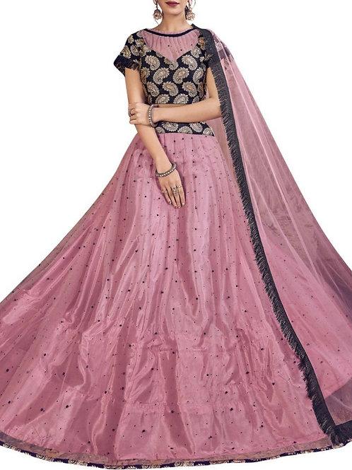 Fabulous Pink Color Wedding Lehenga