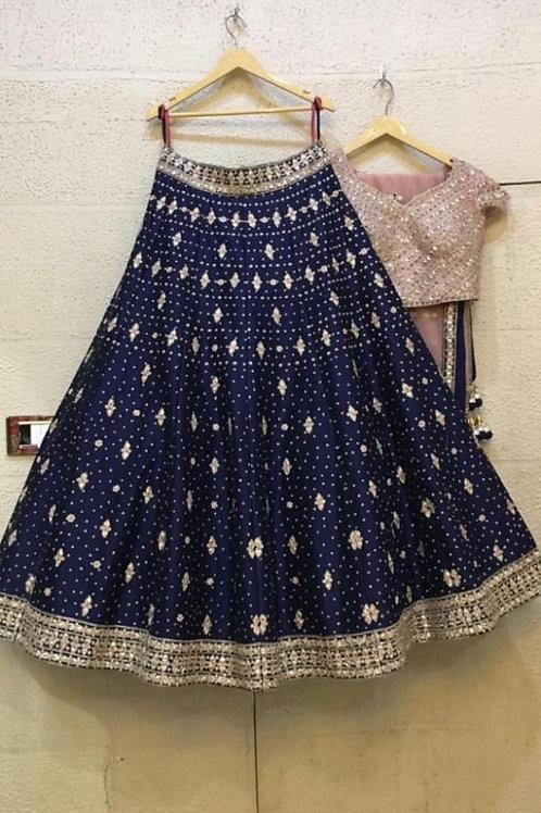 Navy Blue Color Gorgeous Lehenga Choli