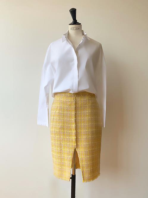 Multi - Colored Tweed Skirt