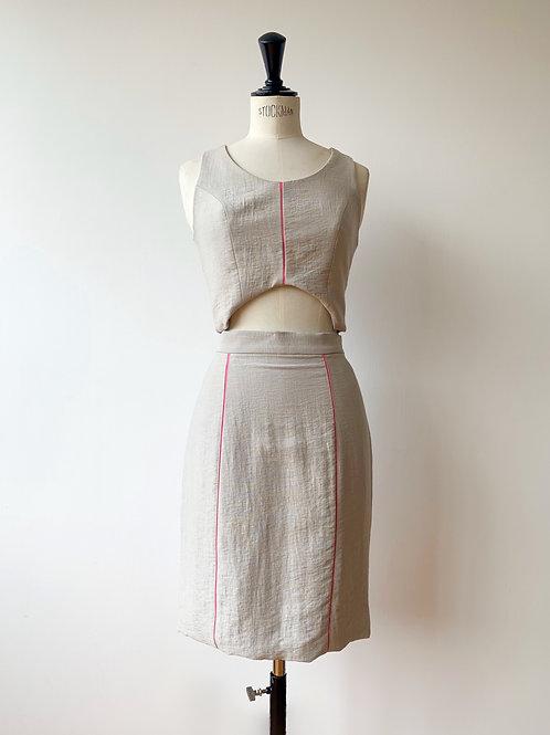 Pencil Skirt + Crop Top Set