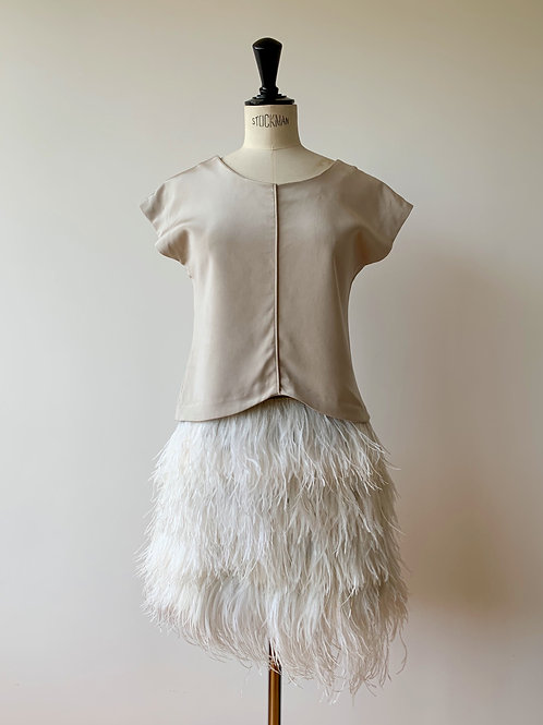 Ostrich Feathered Skirt