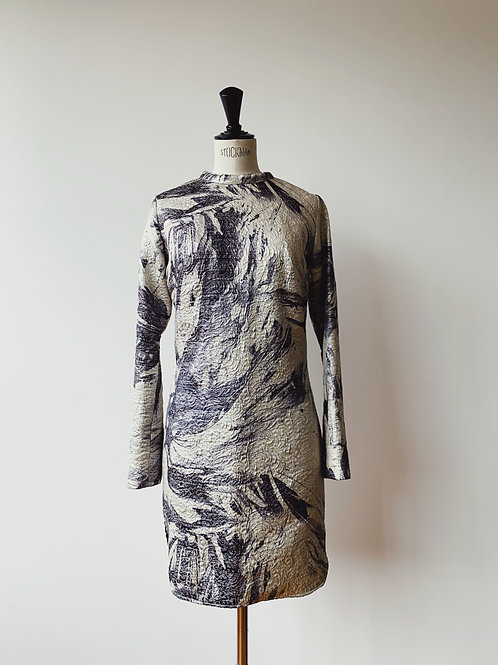 Jacquard Print and Zippers Dress