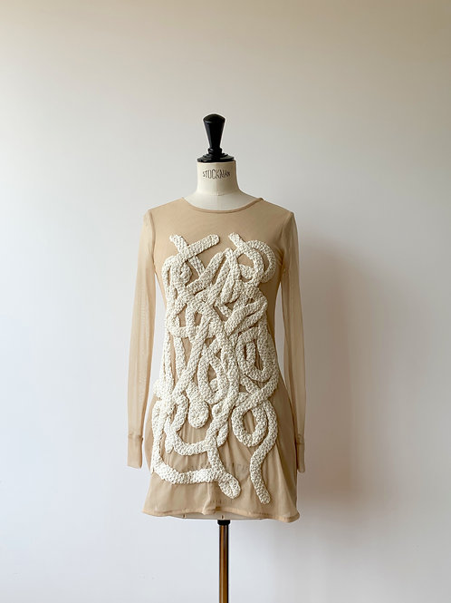 Mesh Top with Artisanal Embroidery