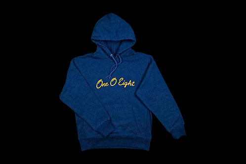 108 -One O Eight- hoodie【navy × yellow】