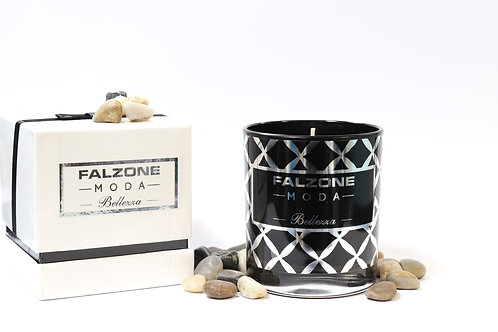 Mulled Wine- Black Glass Candle with Presentation Box