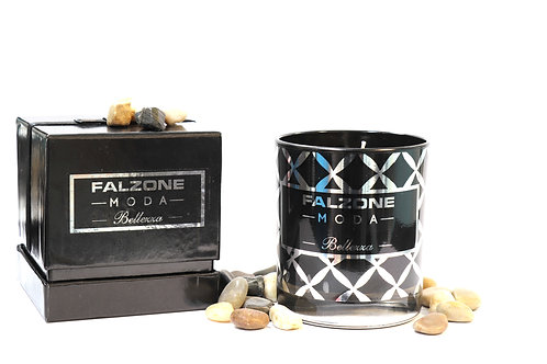 Luxury Prosecco & Clementine Black Glass Candle with Presentation Box