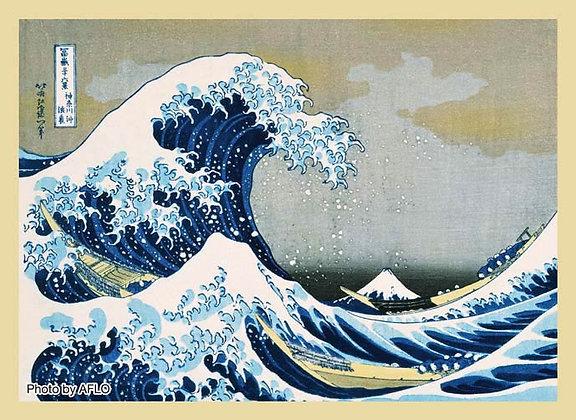 Broccoli Hybrid Sleeve Katsuhika Hokusai Fugaku Sanjurokkei Kanagawa-oki nami-ur