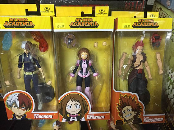 set of 3 MY HERO ACADEMIA WV2 7INCH  FIGURE