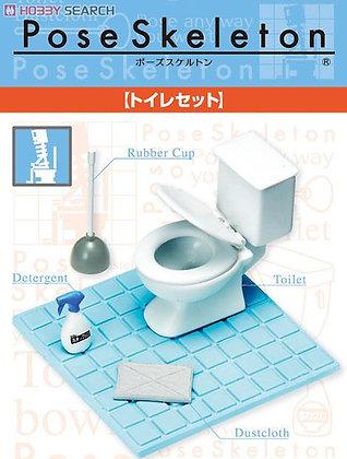 Pose Skeleton Accessory Toilet Set