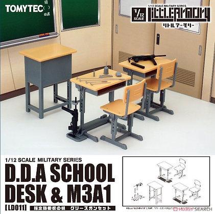 1/12 Little Armory (LD011) Designated Defense School`s Desk Grease Gun Set (Pl