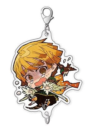 """""""Demon Slayer: Kimetsu no Yaiba"""" Chain Collection Agatsuma Zenitsu Busting Ogres"""
