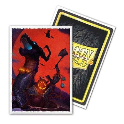 DRAGON SHIELD SLEEVES: ART MATTE HALLOWEEN DRAGON (BOX OF 100) - LIMITED EDITIO
