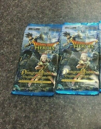 """Lot of 2""""Dragon Quest"""" Trading Card Game Dragon Quest Heroes Special Pack"""