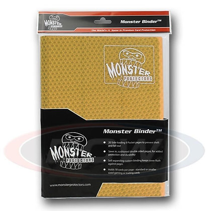Monster Trading Card Album: 4 Pocket Holofoil Highlighter Yellow
