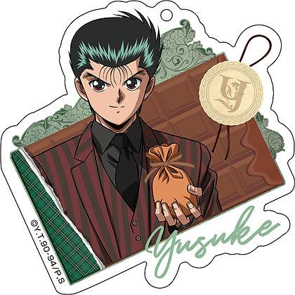 """""""YuYu Hakusho"""" Acrylic Key Chain Valentine Ver. 1 Urameshi Yusuke  Medicos Enter"""
