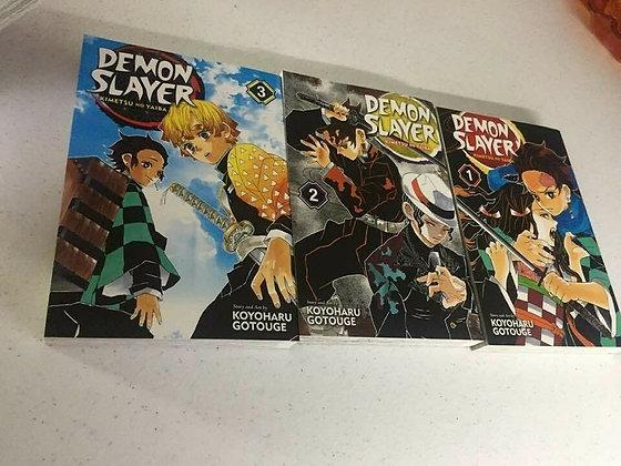 Demon Slayer: Kimetsu no Yaiba Vol1,2,3 Manga (3 Books)   by Koyoharu Gotouge