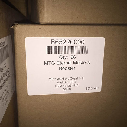 One Sealed Case of MTG  Eternal Masters Booster Box (24 Booster Packs))