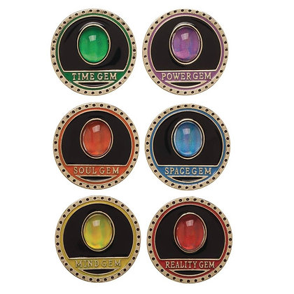 MARVEL INFINITY GAUNTLET 6PC COLLECTIBLE LAPEL PIN SET