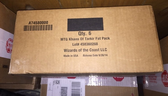 Magic The Gathering Khans of Tarkir fat pack Factory Sealed Case (6 Ct)