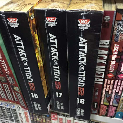 ATTACK ON TITAN VOL 16,17,18 Manga Special Ed: PLAYING CARD & DVDs (3 Books)