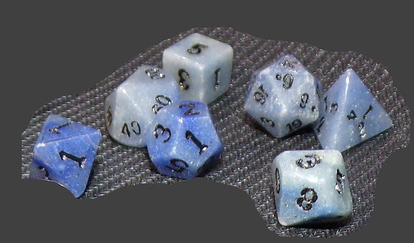 Blue Jasper Dwarven Stones 12mm 7 pc set