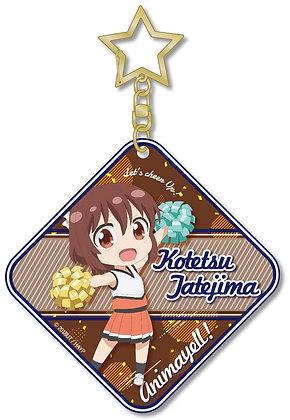 """""""Anima Yell!"""" PVC Clear Key Chain Tatejima Kotetsu by Cabinet"""
