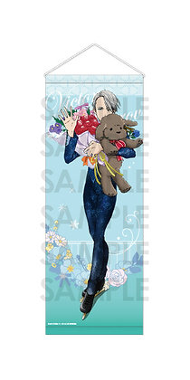 """Yuri!!! on Ice"" Tapestry -with flowers- B Victor Nikiforov"